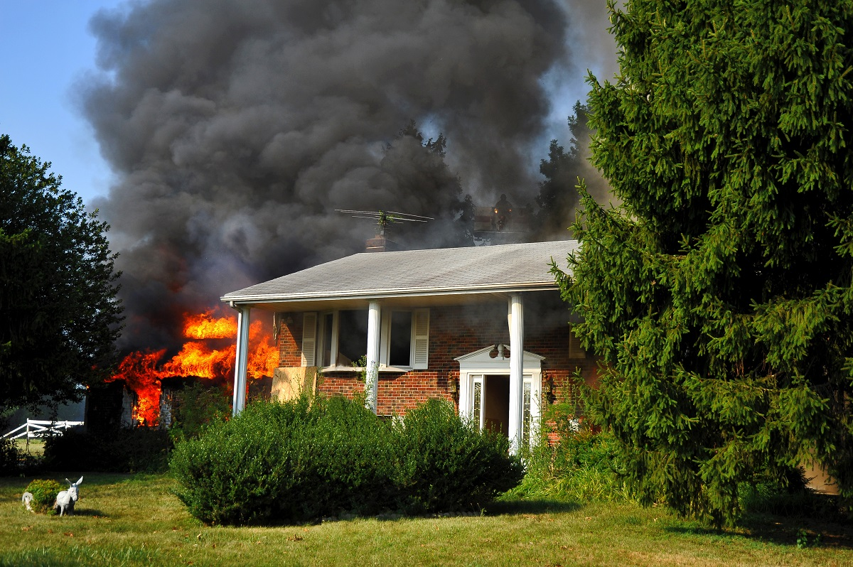 home in fire