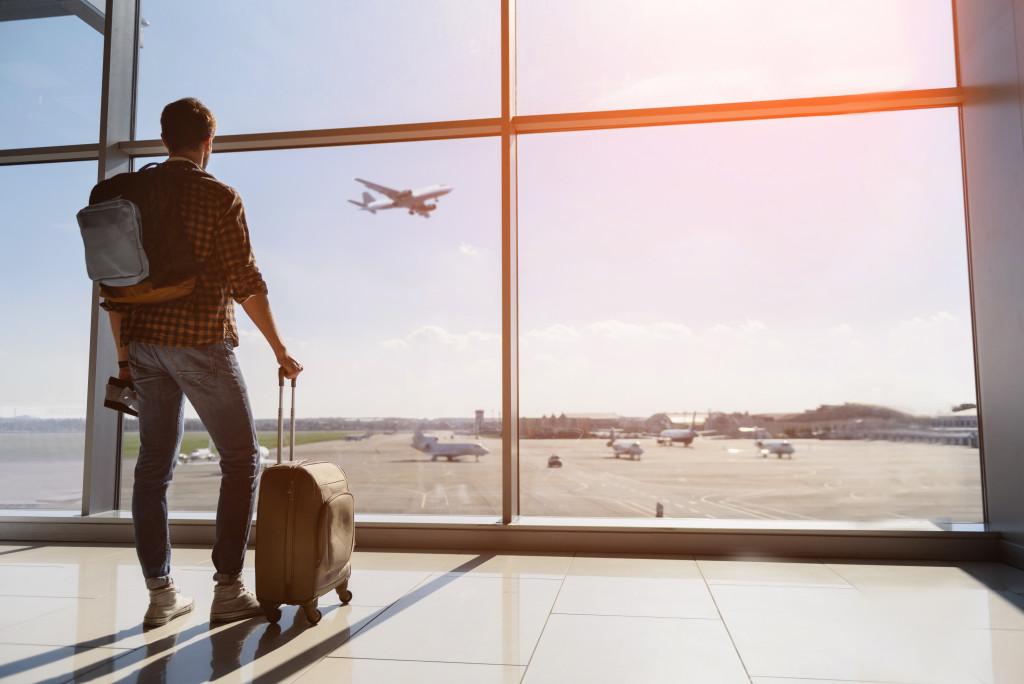 traveling via airplane